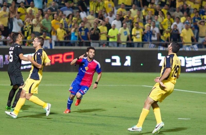 Salah esulta dopo aver infilzato il Maccabi (credits: english.ahram.org)