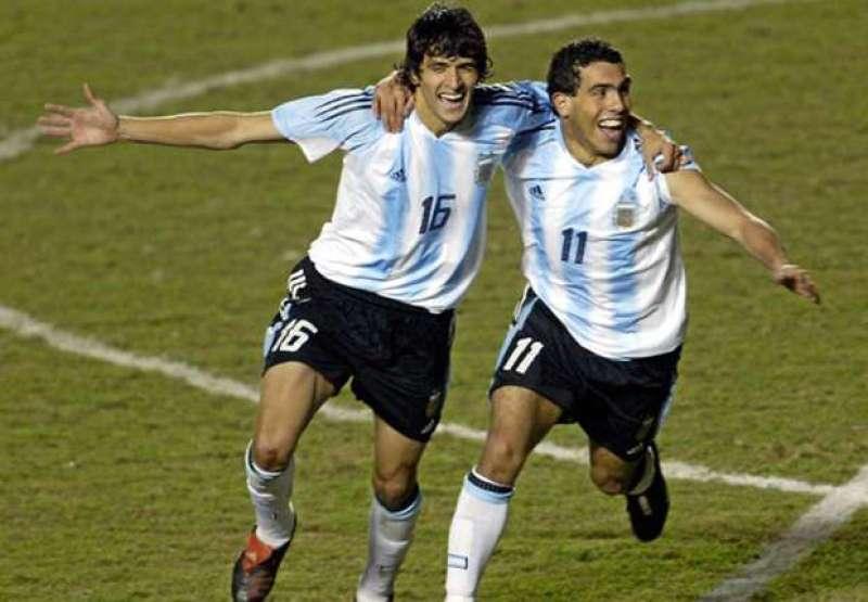 Tévez e Lucho Gonzalez, protagonisti della Copa America 2004
