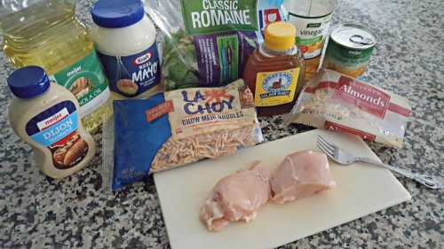 Chicken Oriental Salad for Two ingredients