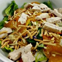 Chicken Oriental Salad for Two romantic dinner