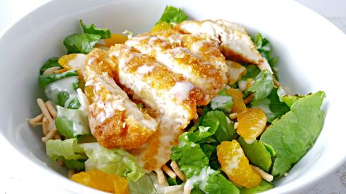 Chicken Oriental Salad for Two Recipe - perfect refreshing dinner for two