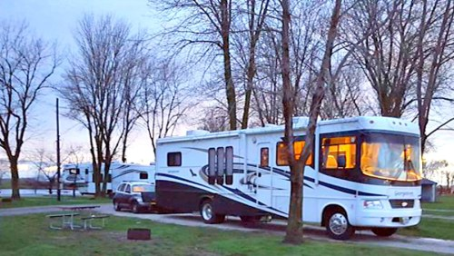 My In-laws RV at the campground in Champagne, IL