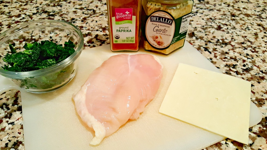 White Cheddar and Spinach Stuffed Chicken ingredients - zonacooks.com