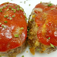 Individual Cheddar Meatloaves - Serves 2