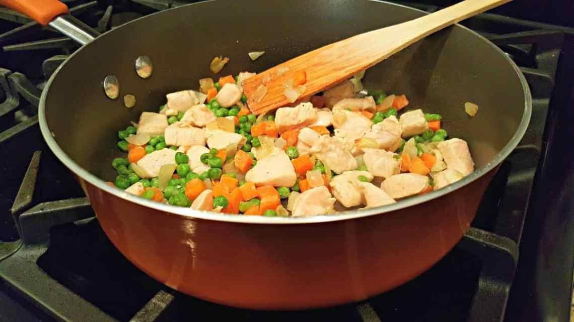 Individual Chicken Pot Pies - add chicken