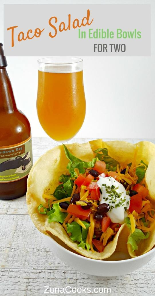 Taco Salad In Edible Bowls Recipe For Two Zona Cooks