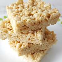 Gooey Rice Krispie Treat Recipe - Small Batch - easy and delicious!
