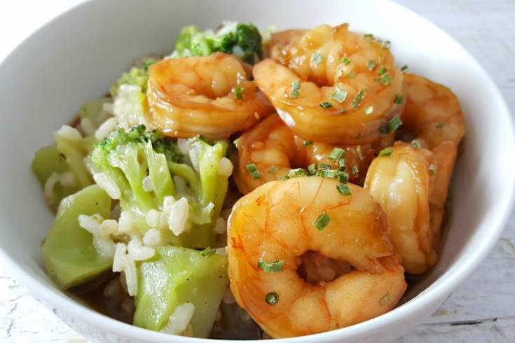 Honey Garlic Shrimp for Two - quick and easy!
