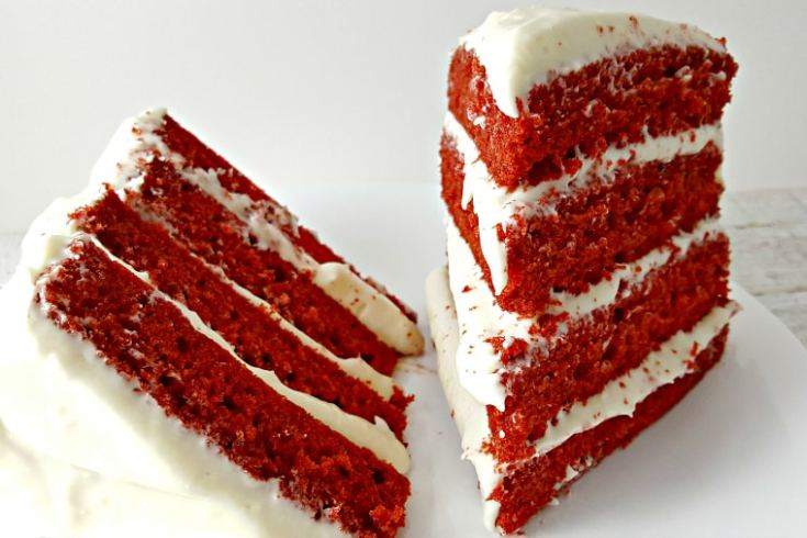 Red Velvet Cake and Whipped Cream Cheese Frosting for Two - decadent and moist, best dessert ever!