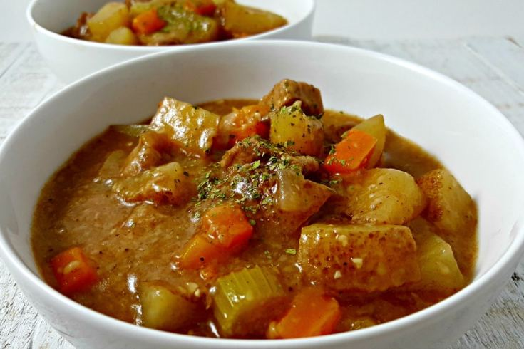 Crockpot Beef Stew for Two - hearty meal for a cold fall or winter day.