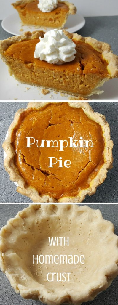 This Pumpkin Pie recipe is the perfect small batch size for two people. The crust is buttery and flaky, but still crisp and the filling tastes flavorful, light and creamy with the addition of cream cheese. Add some whipped cream on top for a perfect fall or intimate Thanksgiving dessert.