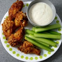 Crispy Fried Chicken Wings Recipe - small batch perfect for two