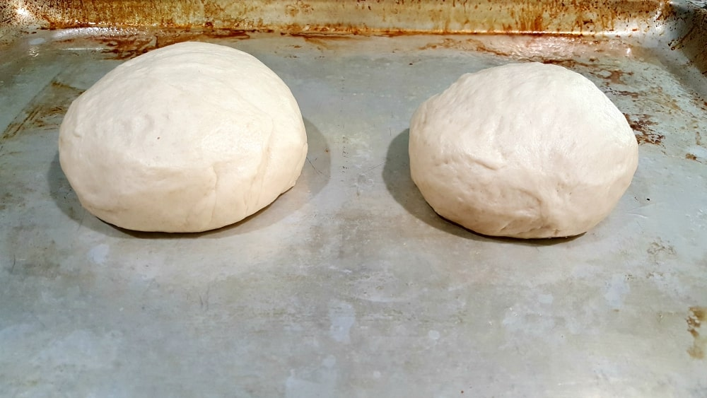 Easy Homemade Bread Bowls Recipe - form two balls and place on a cookie sheet