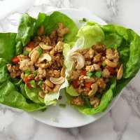 Asian Chicken Lettuce Wraps Recipe for Two - makes 4 wraps