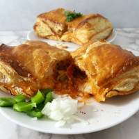 Cheesy Pizza Puff Pastry Calzones Recipe for Two - serves 2