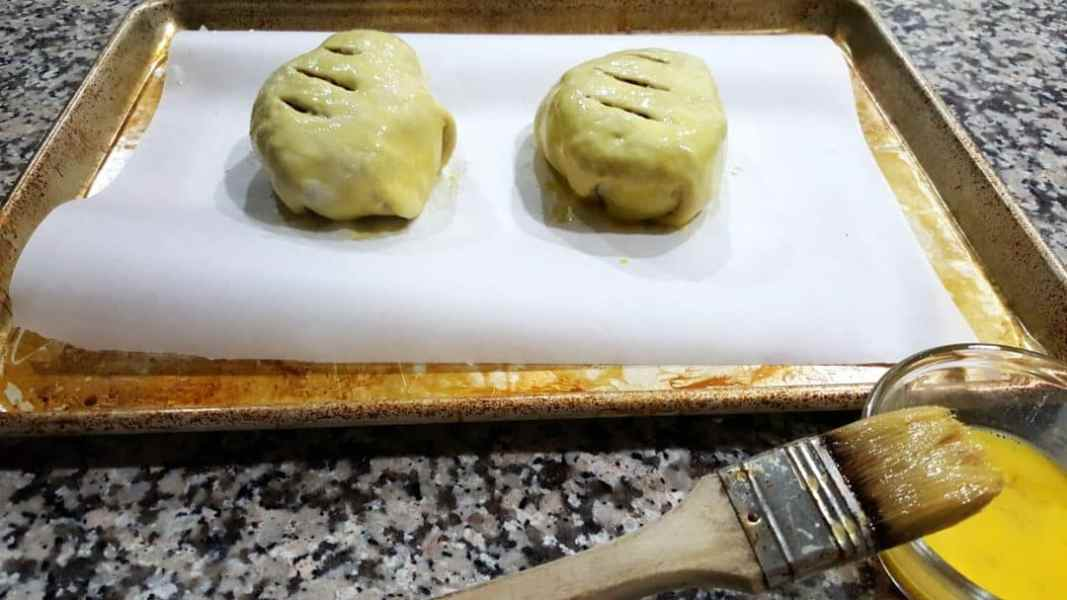 Individual Beef Wellington Recipe for Two - cut slits in top and brush with egg