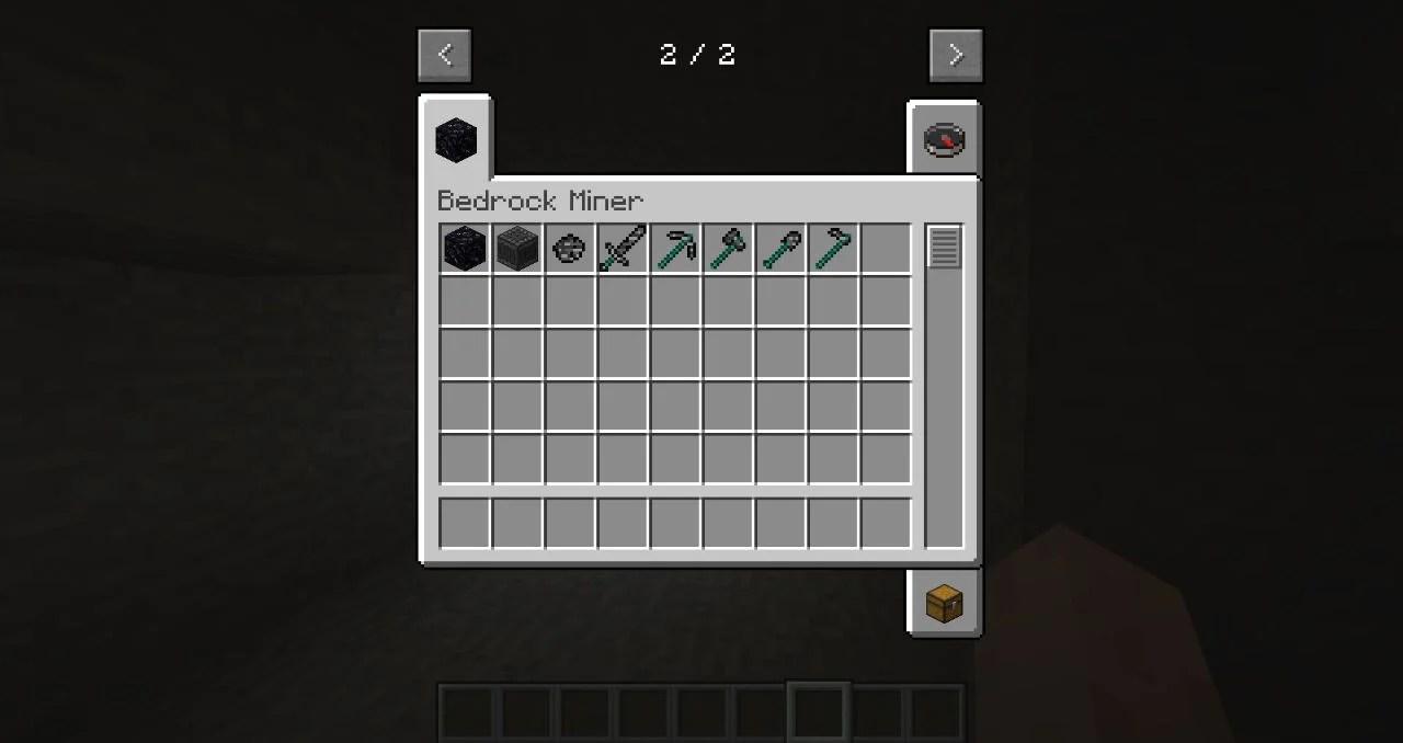 Bedrock Miner Mod