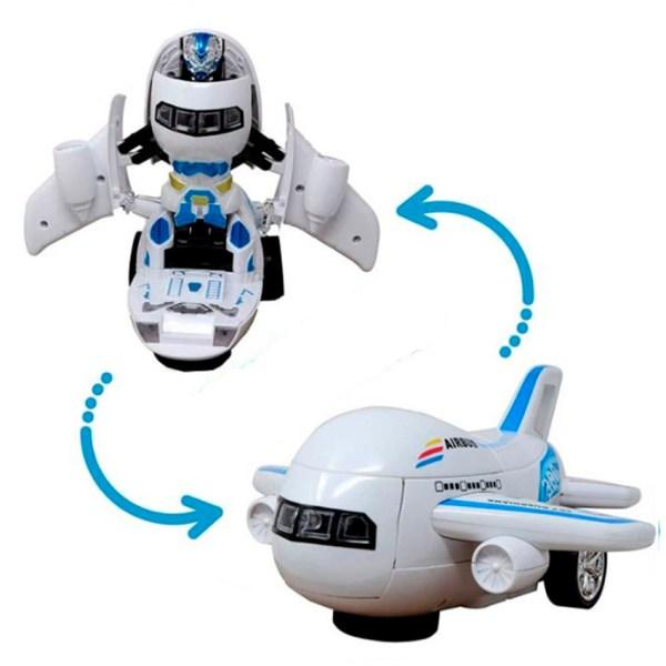 Avion Transformer con luces y sonidos