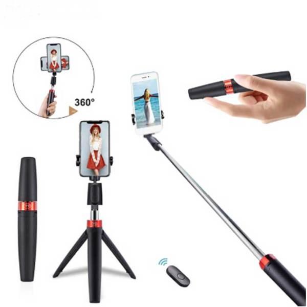Selfie stick con trípode y control remoto y11