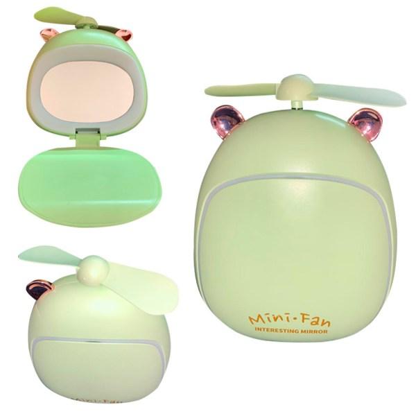 Ventilador Portatil con espejo y luz