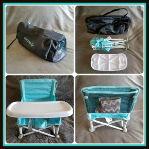 summer infant beach chair lazy boy rocking pop n sit portable highchair booster the comes with a snack tray and mesh pocket perfect for storing bib utensils everything fits well inside durable drawstring