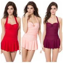 Tankinis-Maillot-De-Bain-Tankini-Femme-Womens-Sets-Push-Up-Bathing-Suits-Cheap-Skirted-font-b