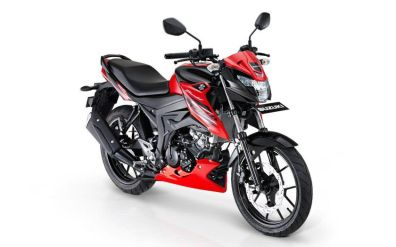 Suzuki GSX150 Bandit red black