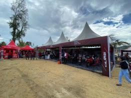 Booth pameran Honda di Jayapura Biker Fest 2020