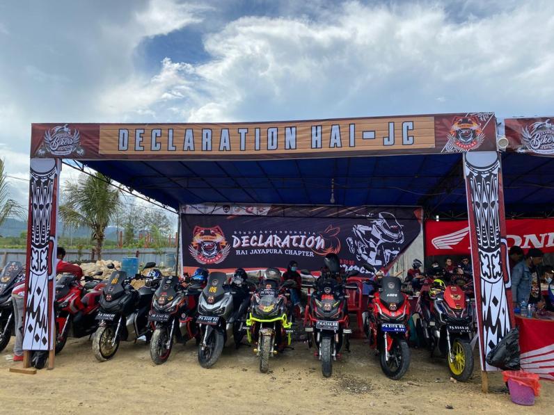 Komunitas sepeda motor Honda di Jayapura PHMJ