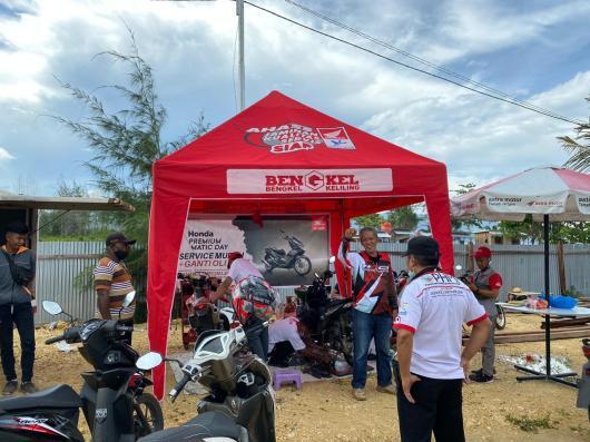 Servis gratis Honda di Jayapura Biker Fest 2020