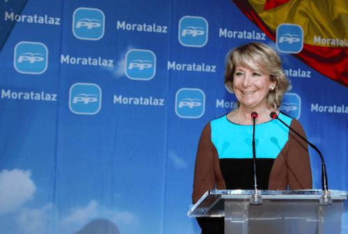 Esperanza Aguirre, en la cena de este miércoles - PP Madrid