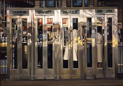 Richard Estes. Cabinas telefónicas. 1967
