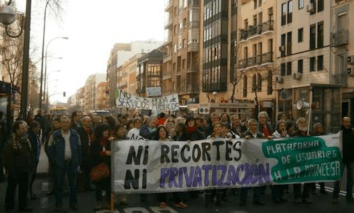 Empleados públicos se manifiestan en Narváez - C. Muñoz