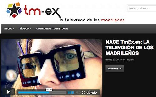 Pantallazo de la web www.tmex.es