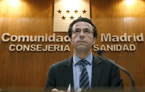 El consejero de Sanidad, Javier Fernández-Lasquetty.