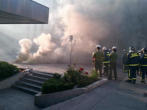 Columna de humo en Ortega y Gasset - Ayto
