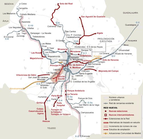 Plan de Cercanías del Psoe 2009-2015 - Ministerio de Fomento