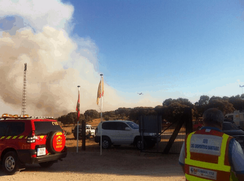 Incendio en Valdemorillo -   112 Madrid
