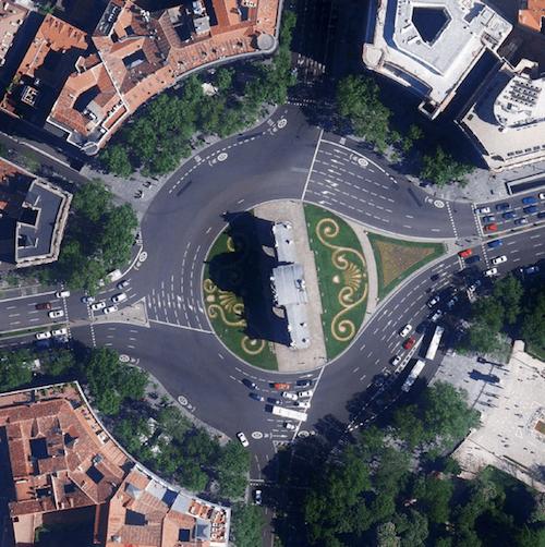 Vista aérea de la Puerta de Alcalá - Ayto