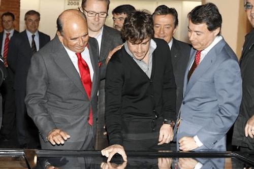 Botín y González, en un acto con Fernando Alonso