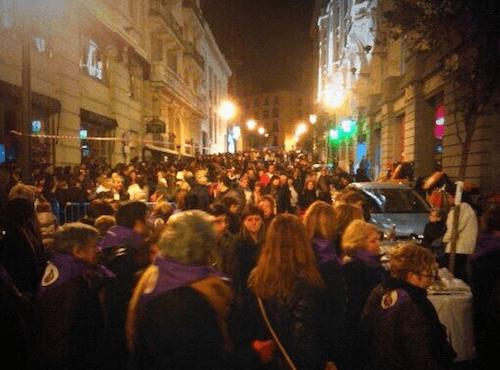 Los peregrinos, en la madrugada del jueves 6 de marzo - TW@miguelmbautista