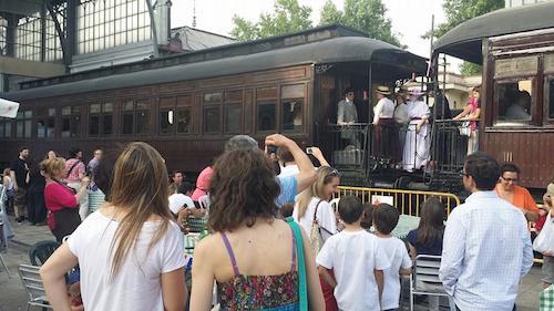 Llegada del Tren de la Fresa al Museo del Ferrocarril el 10 de mayo