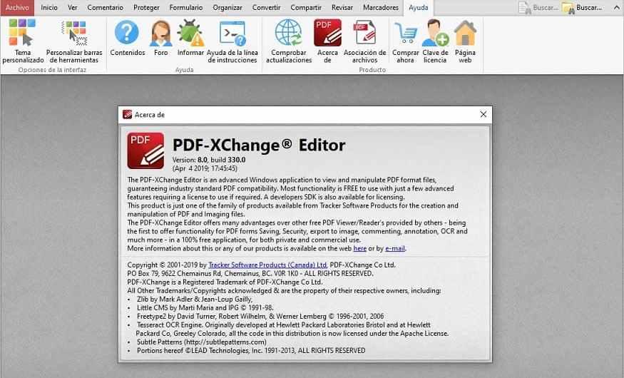 PDF Xchange Editor 8.0