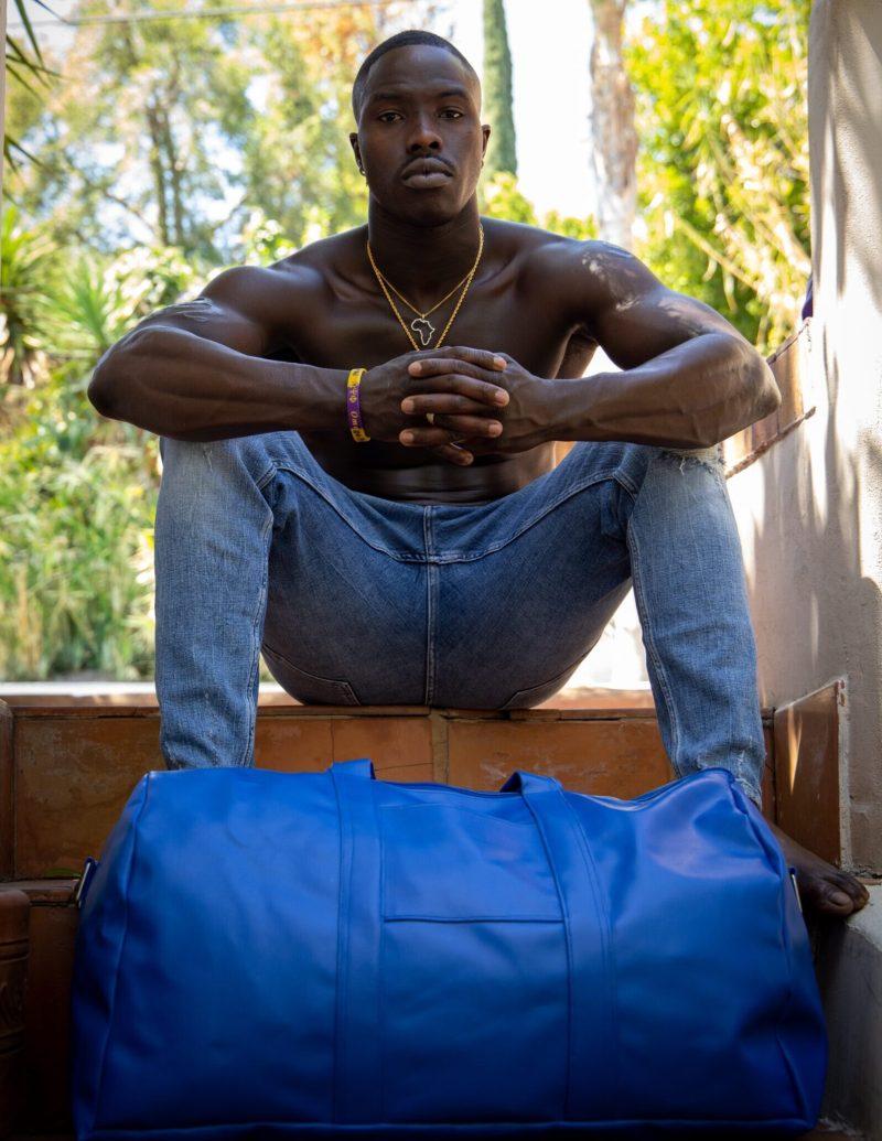 Dante Fisher Blue Vegan Duffel Bag