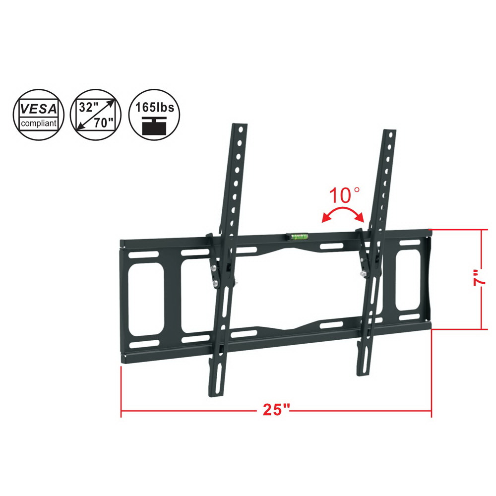 LCD LED Flat Screen Tilt 10°TV Wall Mount Bracket 32 42 46