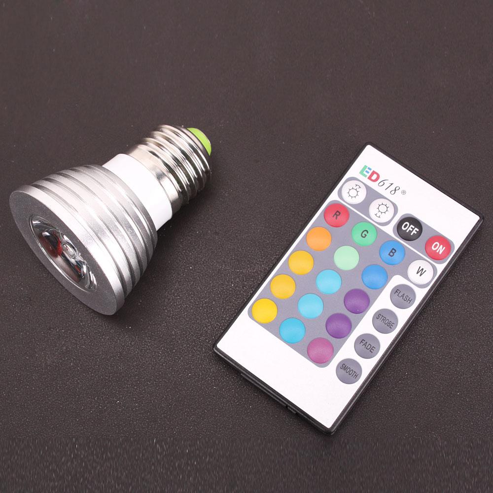 Remote Control Rgb Led Light Bulb