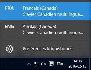 Langue clavier