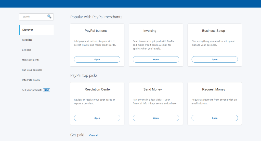 Send and Receive cash using PayPal