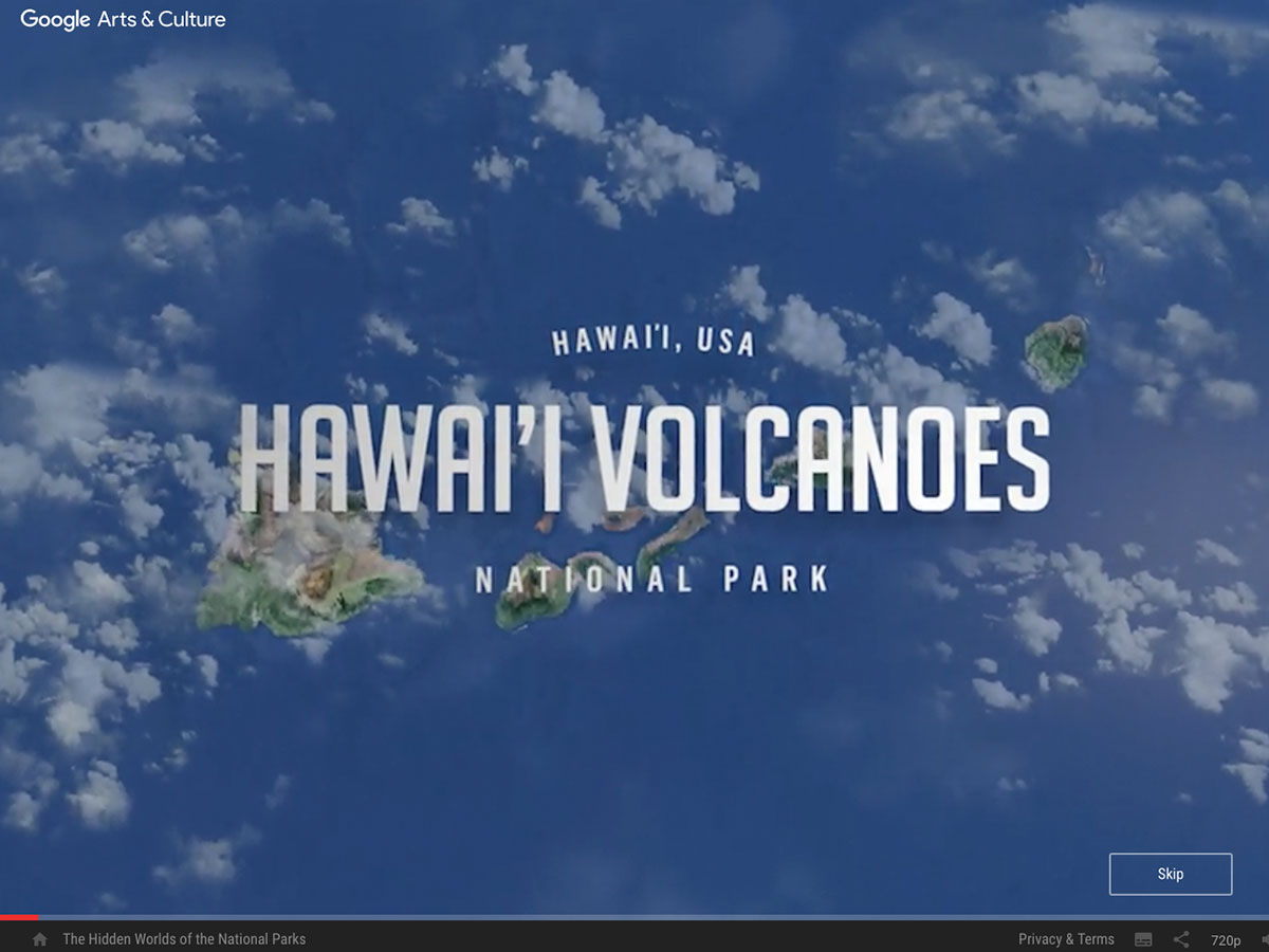 An aerial view of Hawai'i volcanoes