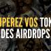 récupérer ses tokens airdrops